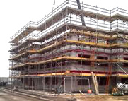 Building Site Scaffolding